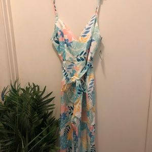 FOREVER 21 tropical jumpsuit